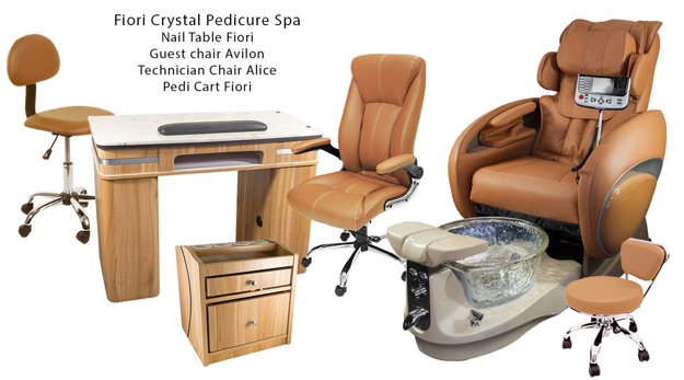 Picture of Fiori 8000 Crystal Pedicure Spa Chair Package