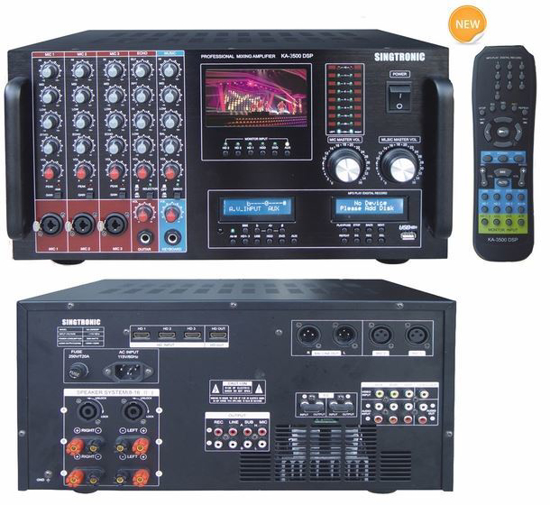 Picture of SINGTRONIC KA-3500DSP PROFESSIONAL DJ/KJ DIGITAL CONSOLE 3000W DSP MIXING AMPLIFIER KARAOKE