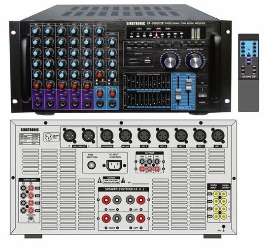 Picture of SINGTRONIC KA-3000DSP PROFESSIONAL DJ/KJ 3000W DIGITAL SOUND CONSOLE MIXING AMPLIFIER KARAOKE WITH SUPER BASS