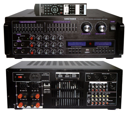 Picture of SINGTRONIC KA-2000R PROFESSIONAL DJ/KJ 2000W MIXING AMPLIFIER KARAOKE HDMI, USB RECORDING & BLUETOOTH FUNCTION