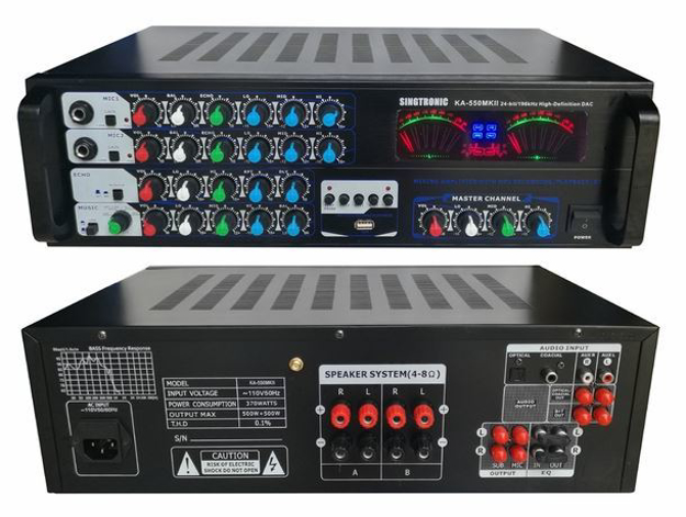 Picture of SINGTRONIC KA-550MKII PROFESSIONAL 1000W MIXING AMPLIFIER KARAOKE MODEL: 2018 BUILT IN USB RECORDING / BLUETOOTH AND OPTICAL / COAX INPUTS