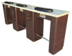 Picture of Triple Manicure Table NT254