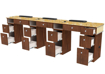 Picture of VERONA Triple Manicure Table